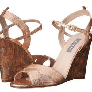 SJP by Sarah Jessica Parker Shoes - NEW!! SJP by Sarah Jessica Parker Rose Gold Wedge